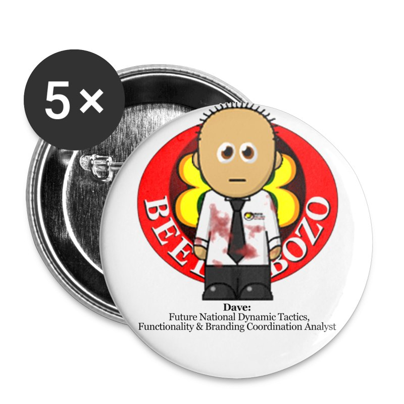 My very own biometric name badge - Dave - Buttons small 25 mm