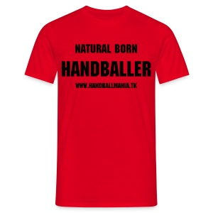 natural born handballer - black print - Men's T-Shirt