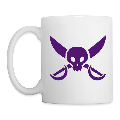 skull and crossed swords mug - Mug