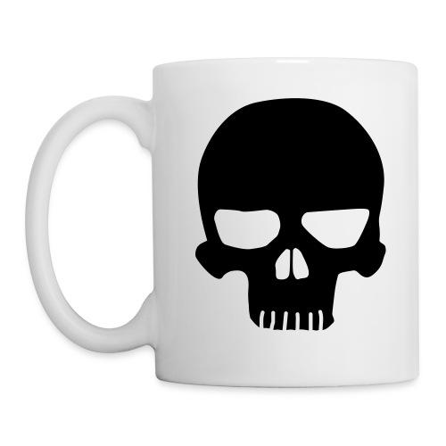 skull mug - black - Mug