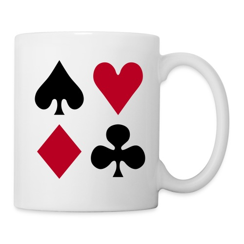 playing card symbols mug - Mug