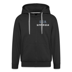 COH decks on rear mens black hoodie ! - Men's Premium Hooded Jacket