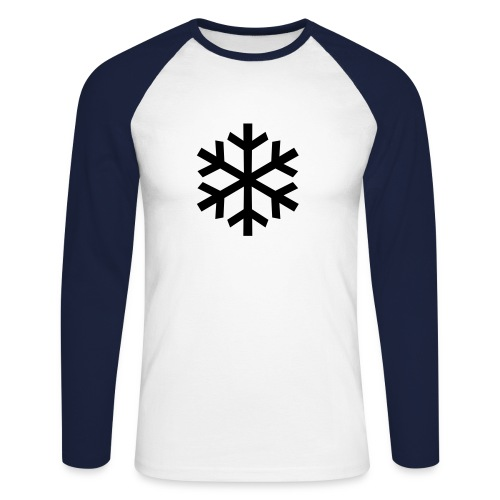 The Snow Man (B-shirt) - Men's Long Sleeve Baseball T-Shirt