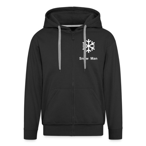 The Snow Man (hoodie) - Men's Premium Hooded Jacket