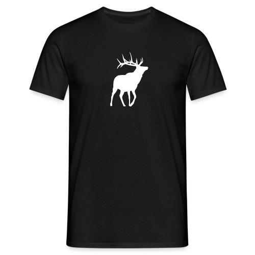 Hirsch T-Shirt Schwarz - Männer T-Shirt