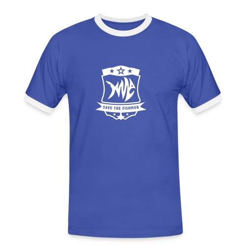 Save the Fishmob 1 - Männer Kontrast-T-Shirt