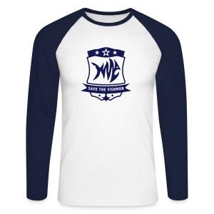 Save the Fishmob 1 - Männer Baseballshirt langarm