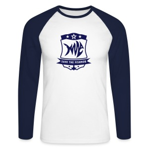 Save the Fishmob 1 - Männer Baseballshirt langarm