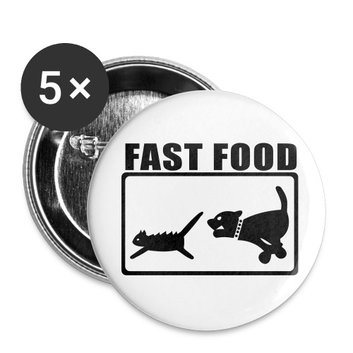 Buttons large 2.2''/56 mm (5-pack) - Fast Food