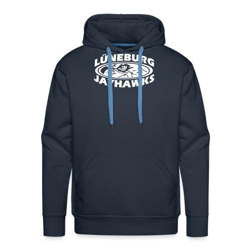 Jayhawks Hawkeye Kaputzenpulli Front+Back - Männer Premium Hoodie