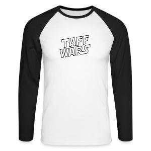 Taff Wars White Raglan Longsleeve - Men's Long Sleeve Baseball T-Shirt