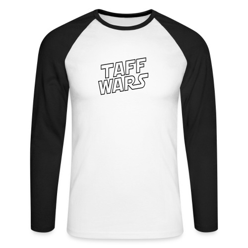 Taff Wars White Raglan Longsleeve - Men's Long Sleeve Baseball T-Shirt