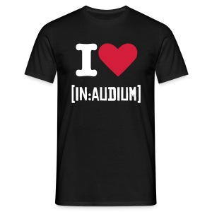 I love [in:audium] T shirt - Men's T-Shirt