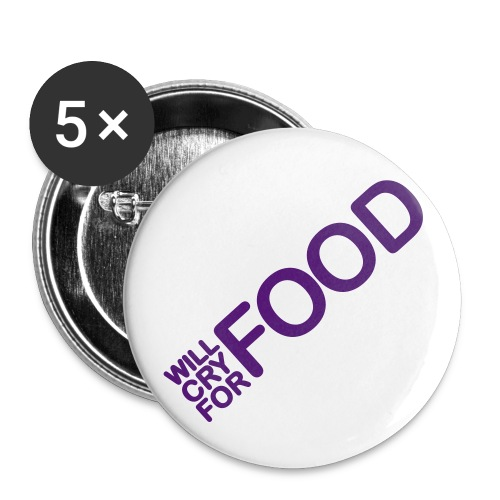 Food Badge. - Buttons medium 32 mm