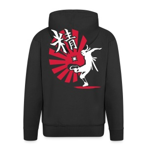 Attack Ninja - Men's Premium Hooded Jacket