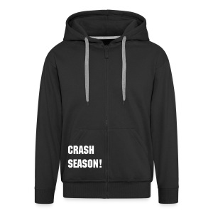 Mens/Womens Black Hoodie - Men's Premium Hooded Jacket