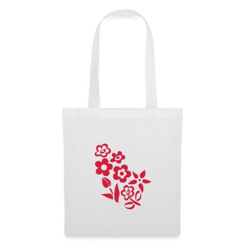 Shoppingkasse med blommotiv - Tygväska