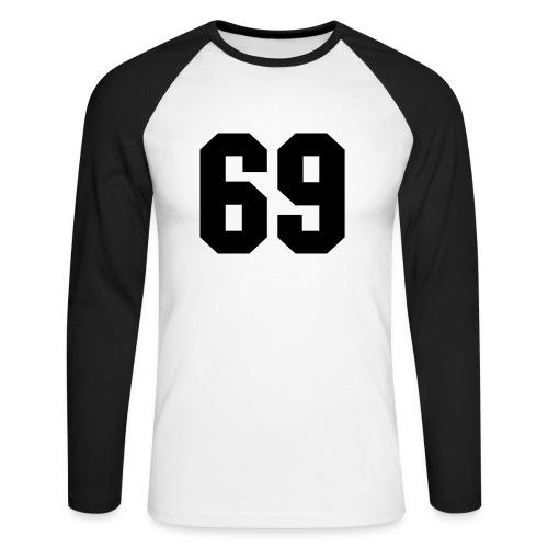 69 schwarz - Männer Baseballshirt langarm