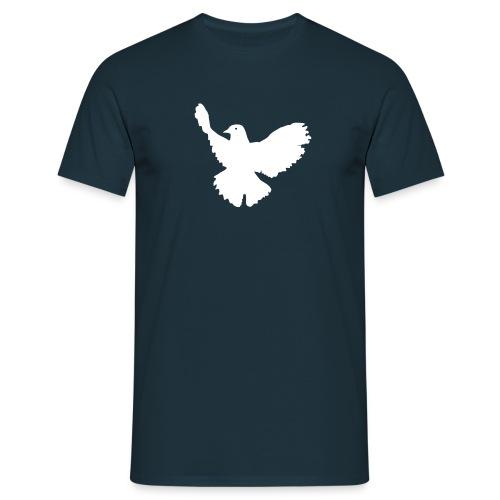 Friedenstaube auf schwarz - Männer T-Shirt