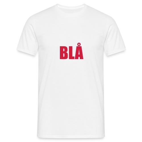 Blå - Men's T-Shirt