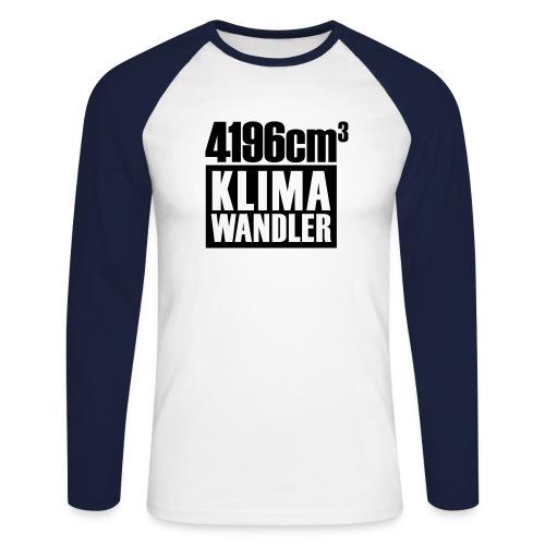 Klimawandler 420 lang - Men's Long Sleeve Baseball T-Shirt