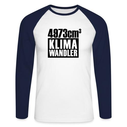Klimawandler 500 lang - Men's Long Sleeve Baseball T-Shirt