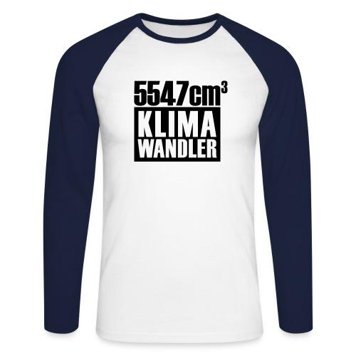 Klimawandler 560 lang - Men's Long Sleeve Baseball T-Shirt