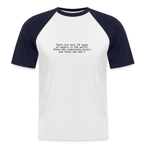 Binary - Männer Baseball-T-Shirt