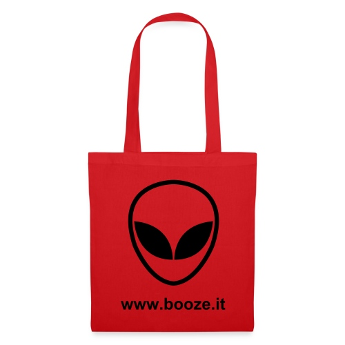 B-bag alien red-black 002 - Borsa di stoffa