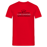 T-Shirts ~ Men's T-Shirt ~ I Am Legend (Read Book) Various Colours