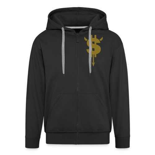Doller sign hoody - Men's Premium Hooded Jacket