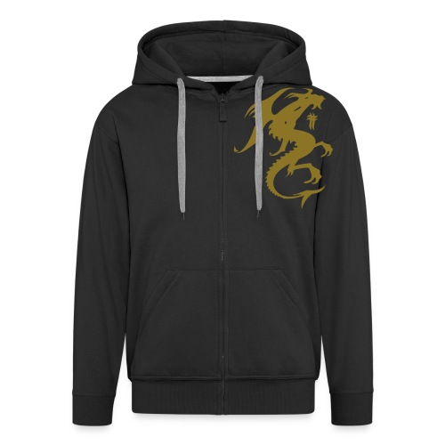 Bow In The Presence Of Greatness - Men's Premium Hooded Jacket