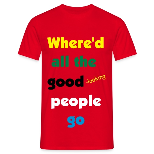 where red - Men's T-Shirt