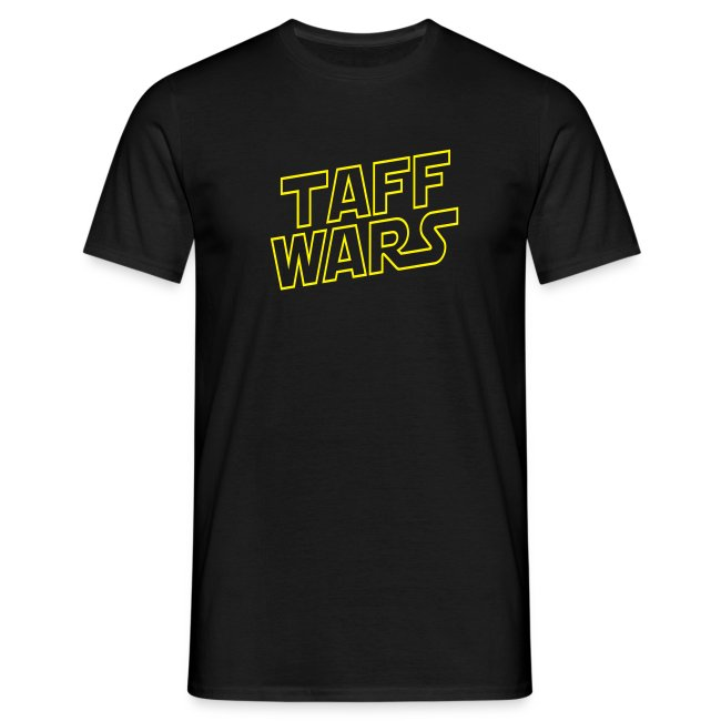 Taff Wars BLACK comfort t-shirt with text on back 5