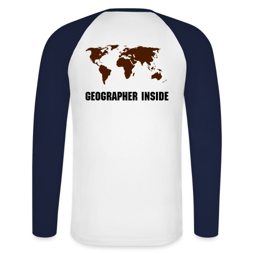 Geographer Inside II - Men's Long Sleeve Baseball T-Shirt
