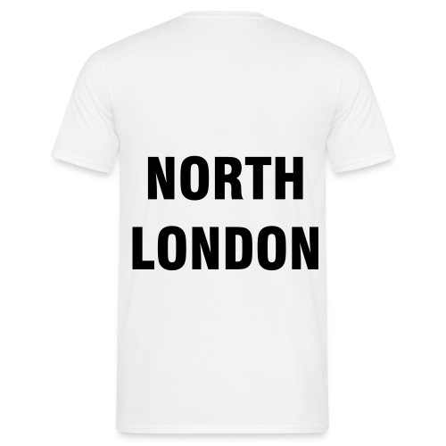 NORTH LONDON T-SHIRT (WHITE) - Men's T-Shirt