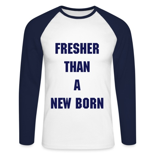fresh blue - Men's Long Sleeve Baseball T-Shirt