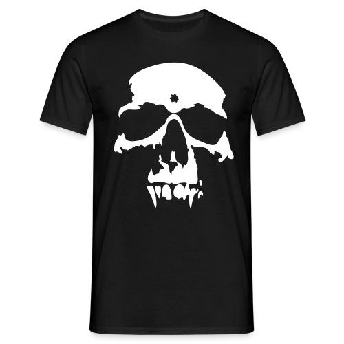 vampire skull white on black - Men's T-Shirt