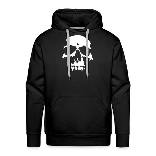 vampire skull white on black - Men's Premium Hoodie
