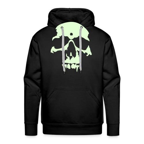 vampire skull glow in the dark on black - Men's Premium Hoodie