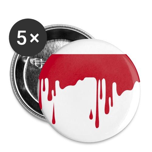 Blut - Buttons mittel 32 mm (5er Pack)