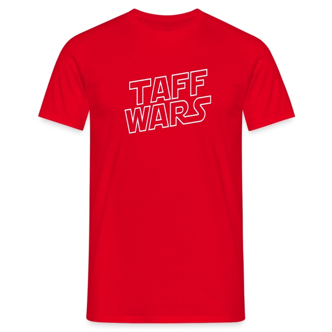 Taff Wars RED comfort t-shirt with text on back