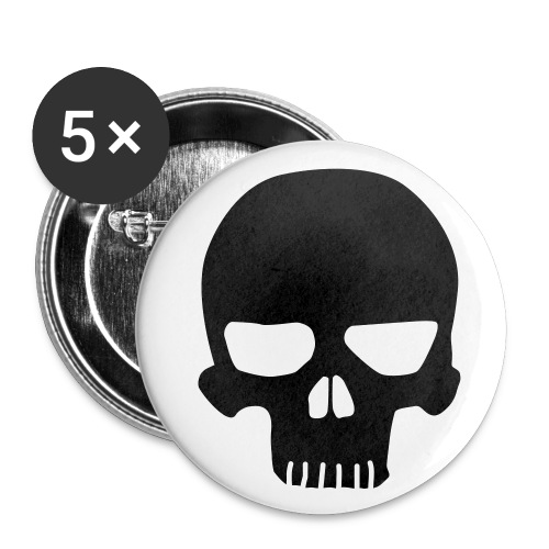 Button Black Skull - Buttons mittel 32 mm (5er Pack)