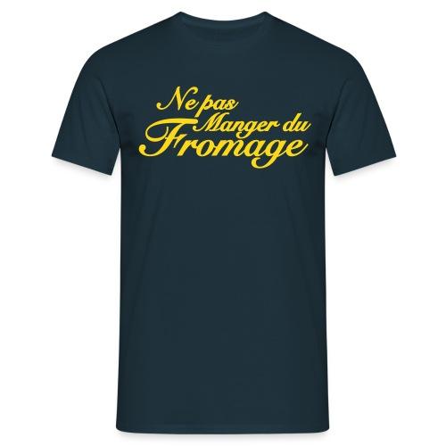 Geen kaas van gegeten t-shirt - Mannen T-shirt