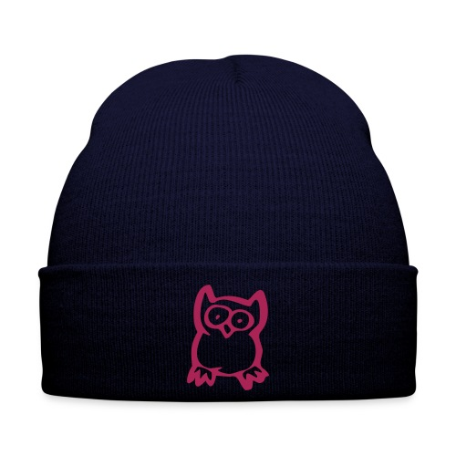owl hat, Pink Blue - Winter Hat