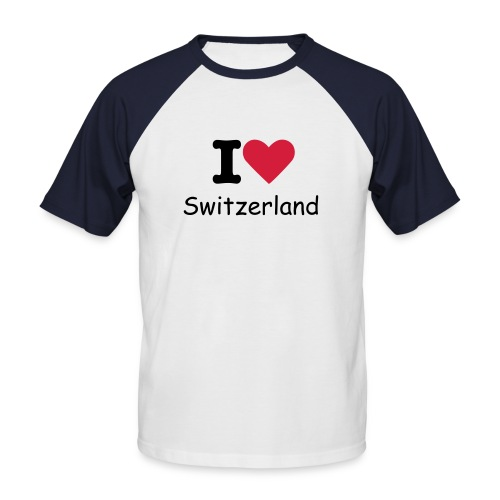 i love switzerland.red.white - T-shirt baseball manches courtes Homme
