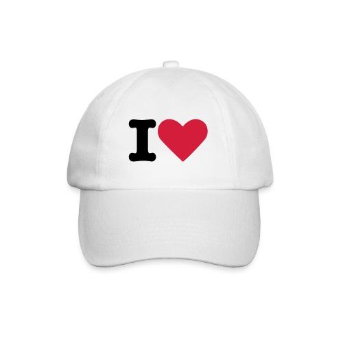 I love you - Baseballkappe