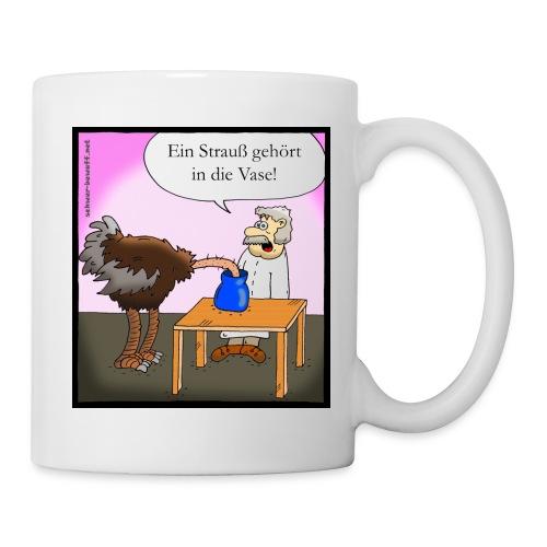 Strauss in Vase Cartoon Tasse - Tasse