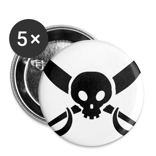 Button Pirat - Buttons groß 56 mm (5er Pack)