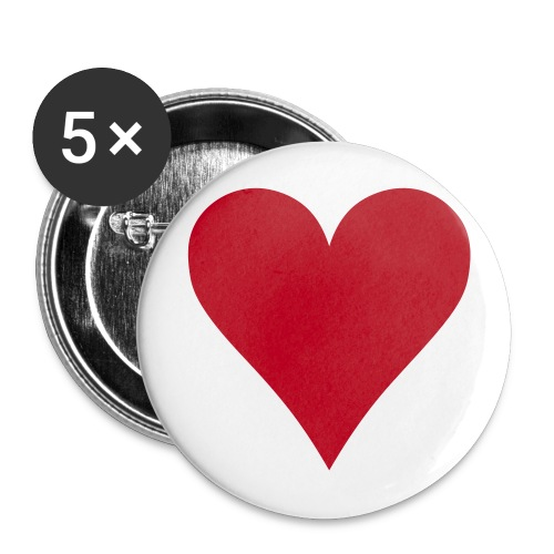 Heart Print badge x5 - Buttons large 56 mm